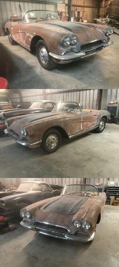1962 Corvette, Chevrolet Corvette, Project Cars For Sale, Antique Cars, Projects, Vintage Cars, Log Projects, Blue Prints