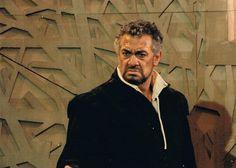 Placido Domingo as Otello. Salzburg, 1996