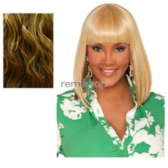 Vivica Fox Weave Cap Collection Tamara - Color P4/33/GO - Synthetic (Curling Iron Safe) Half Wig