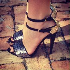 Zara Shoes - Zara Glitter Sandals Size 40/9