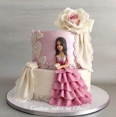 Pretty Picture of Princess Birthday Cake Princess Birthday Cake Princess Cake Couturecakesolga Cakes Cake Decorating cake decorating recipes kuchen kindergeburtstag cakes ideas Bolo Barbie, Barbie Cake, Deco Cupcake, Cupcake Cakes, Girly Cakes, Fancy Cakes, Pretty Cakes, Beautiful Cakes, Couture Cakes