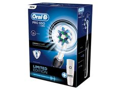 Oral-B 600 Upgrade Pro 650 Black 3D Action Electric Toothbrush - Limited Edition