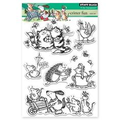 Penny Black CRITTER FUN Clear Stamp Set 30-335 Preview Image