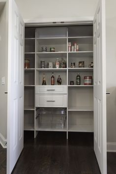 Built-in Organizer in the Pantry in The Stratton Model home at Bel-Aire www.WindsongLife.com