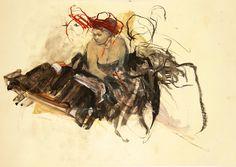 "Saatchi Online Artist: Ute Rathmann; Graphite 2002 Drawing ""Hommage à Degas X"""