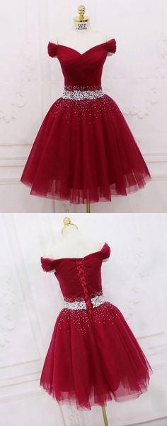 Prom Dresses Ball Gown, Burgundy tulle sequin off shoulder short prom dress. homecoming dress - Burgundy tulle sequin off shoulder short prom dress. homecoming dress Source by CharlotteBridalShops - Senior Prom Dresses, Hoco Dresses, Trendy Dresses, Sexy Dresses, Cute Dresses, Evening Dresses, Fashion Dresses, Formal Dresses, Short Prom Dresses
