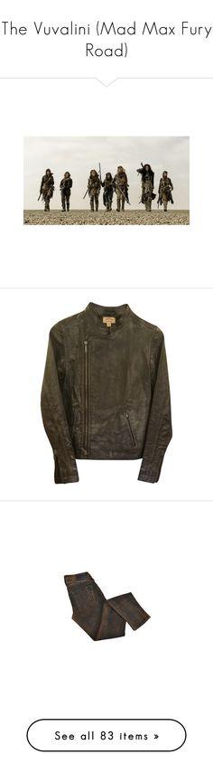"""The Vuvalini (Mad Max Fury Road)"" by fieruta ❤ liked on Polyvore featuring outerwear, jackets, black, john varvatos jacket, distressed jacket, john varvatos, pants, leggings, skinny fit pants and denim leggings"