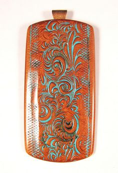 Copper Filigree Pendant with Verdigris Finish by DivaDesigns1, via Flickr