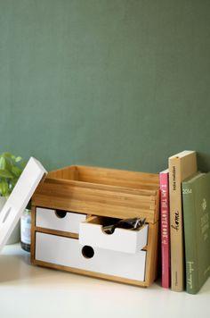 La boîte de rangement Kyoto en blanc par Sengtai