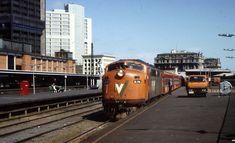 VLine's A78,Geelong train at Melbourne Spencer Street Station,1985.