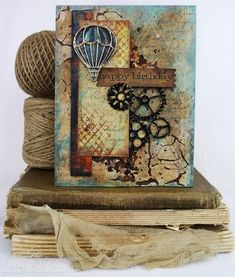Garden of Grace: Steampunk Birthday Birthday Card ~ March Craft Hoarders Anonymous Blog Hop