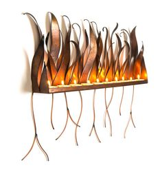 Metal Candle Holder  Wall Sculpture Sconce For by AuraWaterfalls
