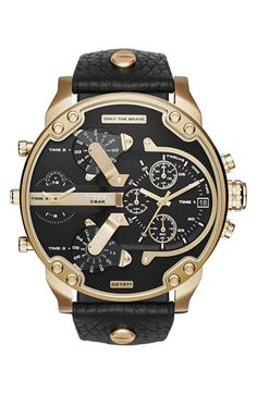 9438c4b0d89e DIESEL®  Mr. Daddy 2.0  Chronograph Leather Strap Watch