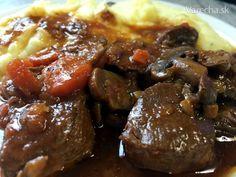 Pomaly dusené jelenie stehno (fotorecept) - Recept Beef, Food, Meat, Essen, Meals, Yemek, Eten, Steak