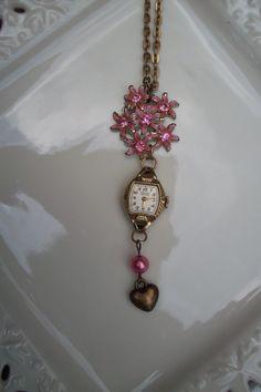 Vintage watch necklace by Keystomyheart on Etsy, $29.00