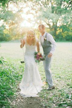 Fresh Flower Garland, Rope Swing | Byron Bay Wedding » Sophie Baker Photography | Fine Art & Documentary Wedding Photographer