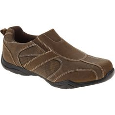 Faded Glory Mens Eldridge2 Casual Shoe $17.87 Faded Glory, Walmart Shopping, Casual Shoes, Slip On, Sandals, Brown, Stuff To Buy, Products, Fashion