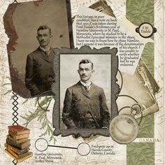 F.W. Tisdale ~ Heritage digi page with great journaling.