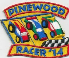 Girl Boy Cub Pinewood Racer 2014 Derby Car Fun Patches Crests Badges Scout Guide | eBay | $1