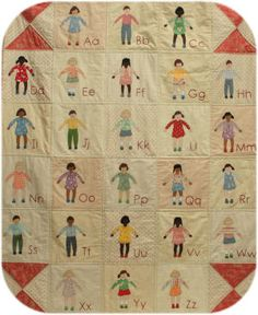 alphabet quilt from my book 'Freya and Fred'   www.janetclare.co.uk