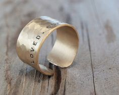 Graduation Gold Dust Ring with Word and Date by amywaltz on Etsy, $39.00
