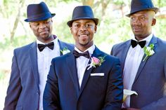 Love the stylish hats in this South African wedding!