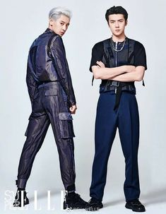 The participants of the duo EXO — SC - Chanyeol and Sehun - took part in a photo shoot for the Chinese magazine Super ELLE.