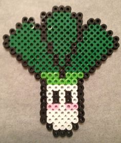 Leek perler bead magnet by Elly-Monshtawr on deviantart