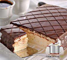 russian cake - ptich'e moloko (bird's milk) souffle