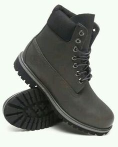Timberland's in Dark Grey