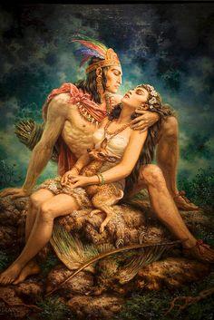 "Jesus Helguera--""The Legend of Iztaccihuatl and Popocatepetl"""
