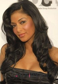 272fb81b644 Ingenious Long Wavy Sepia African American Wigs for Women
