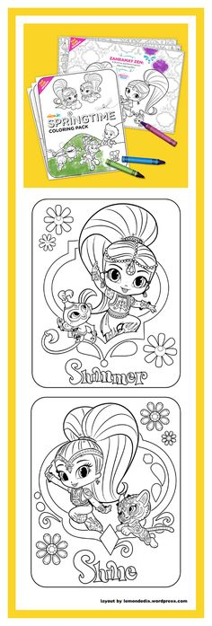 Shimmer And Shine Coloring Pages | Free Coloring Pages For Kids ...