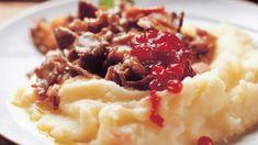 Poronkäristyskastike - Yhteishyvä Mashed Potatoes, Ethnic Recipes, Koti, Rabbits, Whipped Potatoes, Smash Potatoes