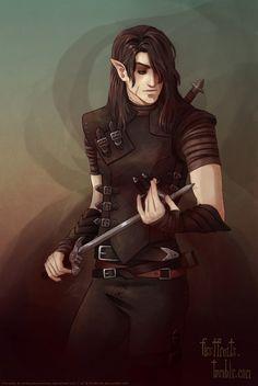 Male Elf Rogue | Narcith, Half-Elf Rogue