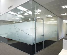 Glass Wall Systems and Sliding and Pivot Glass Doors Dental Office Design, Modern Office Design, Office Interior Design, Office Designs, Glass Sticker Design, Glass Film Design, Office Workspace, Office Walls, Corporate Interiors