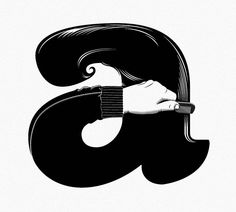 A is for ayyy by garo ®, via Flickr - Typography - Graphic Design