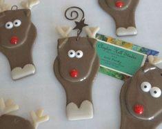 Reindeer Ornament Fused Glass