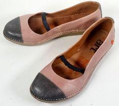 The Art Company Shoes 39 Gray & Mauve Pink Leather Ballet Flats *PRIMO* SZ. 8.5 #TheArtCompany #BalletFlats