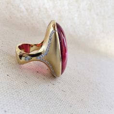 go big or go home in our pink tourmaline ring by Ricardo Basta