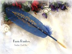 FAERIE RAINBOW Feather Pen by ChaeyAhne on deviantART