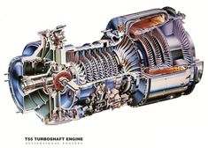 CH-47 Chinook Lycoming T55 Engine