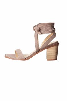 Thissandal features asuede upper. Wraparound ankle strap with tie-up closure. Open-toe silhouette. This sandal features a single strap at vamp, and alightly padded footbed. Stacked heel. Man-made sole.    Heel Height: 2 3?4 in Weight: 1 lb   Calvary by Chinese Laundry. Shoes - Sandals - Heeled Houston, Texas