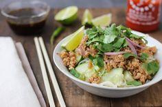 Veganizing and Noodle-izing My Ma's Thai Larb - Luminous Vegans