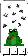 Printable frog fly count and clip cards from Making Learning Fun
