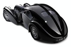 Bugatti 57S Atlantic 1938— one of the most stunning and rare cars ever built, with only four made. From the collection of Ralph Lauren.
