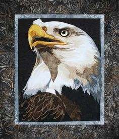 Toni Whitney's BALD EAGLE WALL QUILT PATTERN on sale @ Keepsake Quilting online