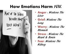 emotions harm you