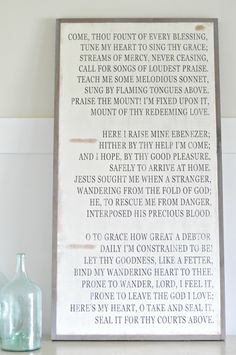 Come Thou Fount of Every Blessing (customizable)