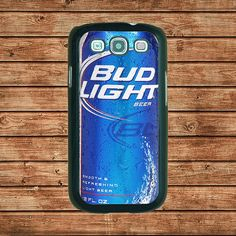 Samsung Galaxy S3 case--Bud Light beer,in plastic hard case,black or white or clear color by tomes8899, $14.99
